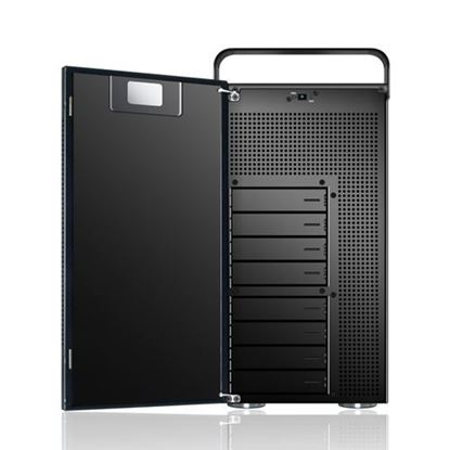Hình ảnh Sans Digital AccuNAS AN8L+B - NAS + iSCSI 8 Bay 64bit Network Storage Server Tower - Black (AN8L+B)