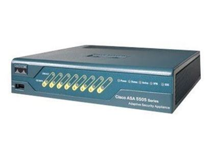 Hình ảnh Cisco ASA 5505 Appliance with SW, 10 Users, 8 ports, 3DES/AES (ASA5505-BUN-K9)