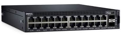 Picture of Dell Networking X1026P Smart Web Managed Switch, 24x 1GbE PoE (up to 12x PoE+) and 2x 1GbE SFP ports